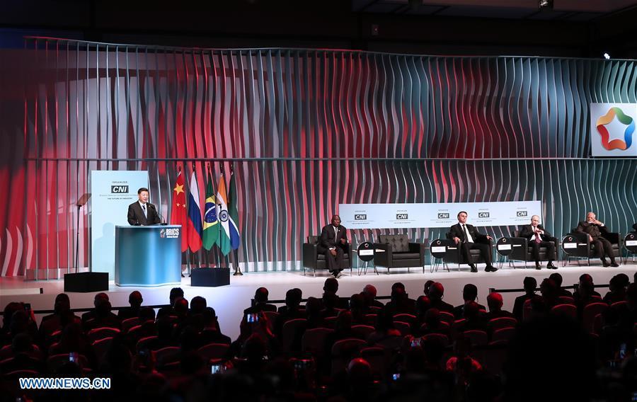 BRAZIL-BRASILIA-XI JINPING-BRICS BUSINESS FORUM