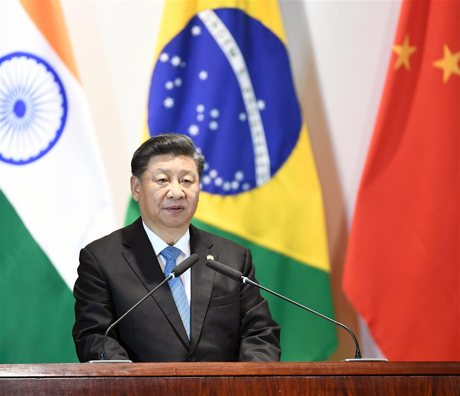 BRAZIL-BRASILIA-CHINA-XI JINPING-BRICS-LEADERS' DIALOGUE WITH THE BRICS BUSINESS COUNCIL AND THE NEW DEVELOPMENT BANK