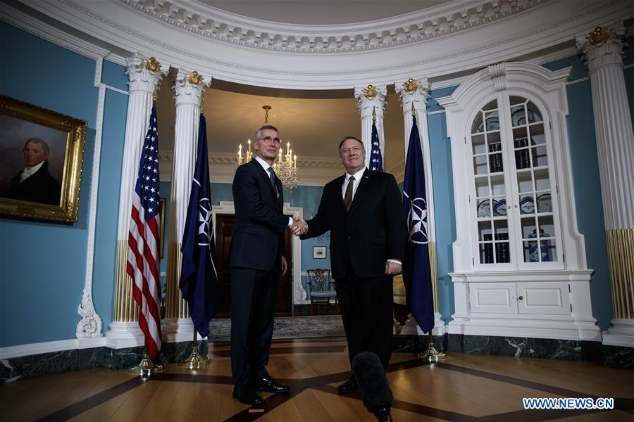 美国华盛顿DC-POMPEO-NATO-STOLTENBERG会议