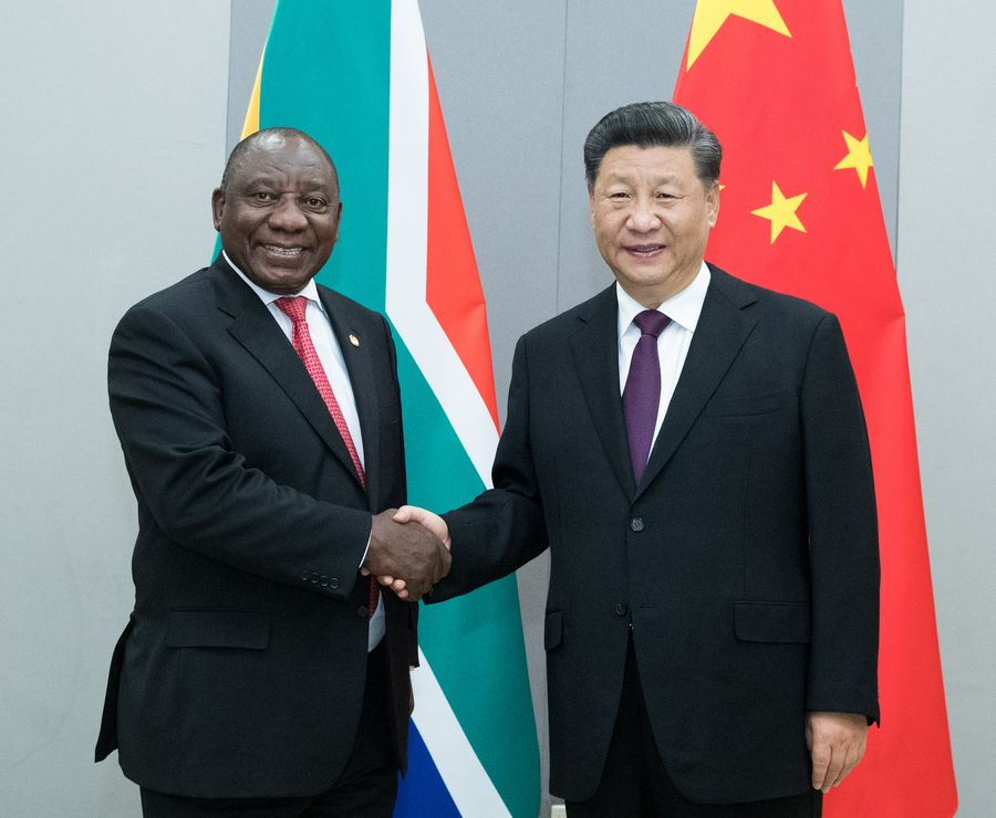 China ready to promote strategic partnership with South Africa: Xi - Xinhua   English.news.cn