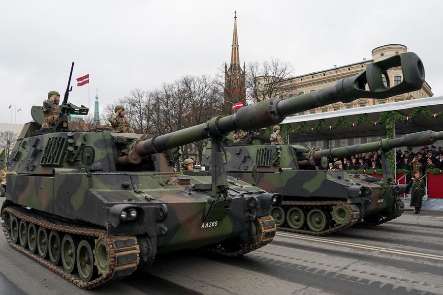 Latvia marks Independence Day with military parade, fireworks display - Xinhua | English.news.cn