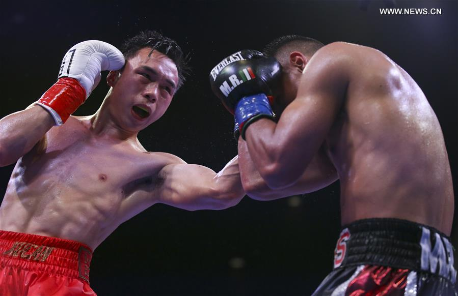 (SP)US-INDIO-BOXING-WBA-FEATHERWEIGHT-XU CAN