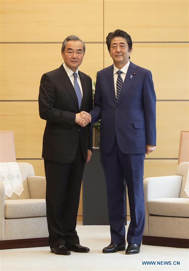 JAPAN-TOKYO-CHINA-WANG YI-SHINZO ABE-MEETING