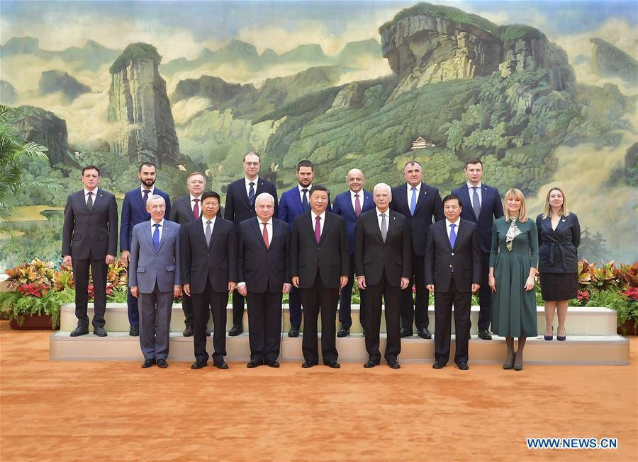 CHINA-BEIJING-XI JINPING-UNITED RUSSIA PARTY-MEETING (CN)