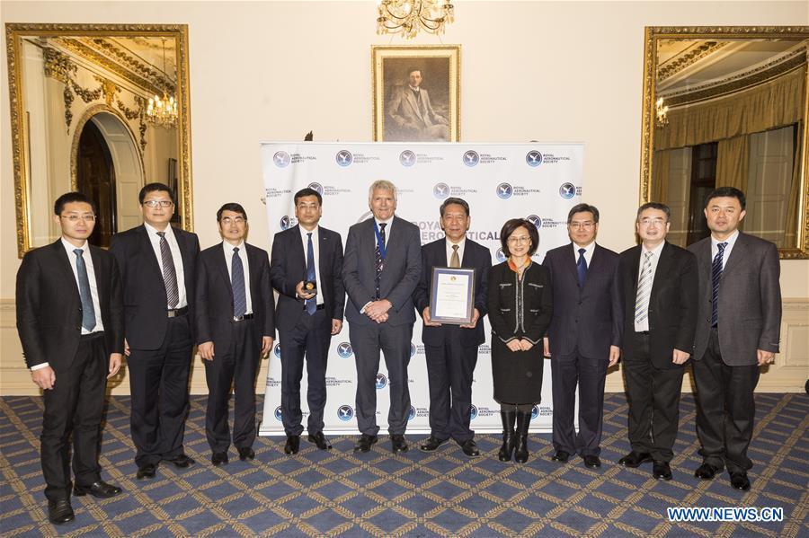 BRITAIN-LONDON-RAES-CHINA-CHANG'E-4 MISSION TEAM-AWARDING