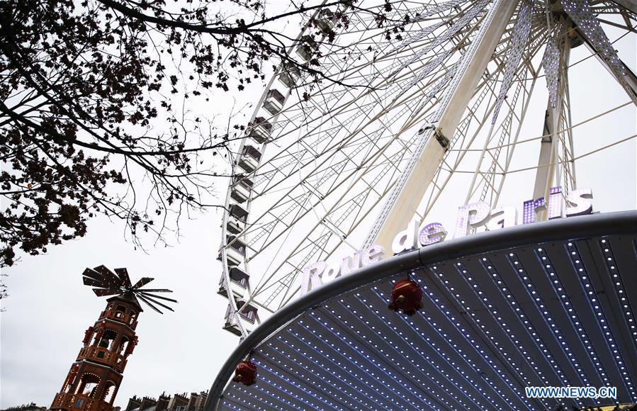 法国-巴黎-圣诞节市场