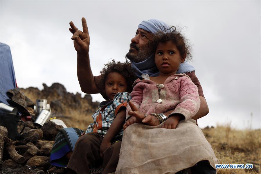 也门萨那流离失所的人