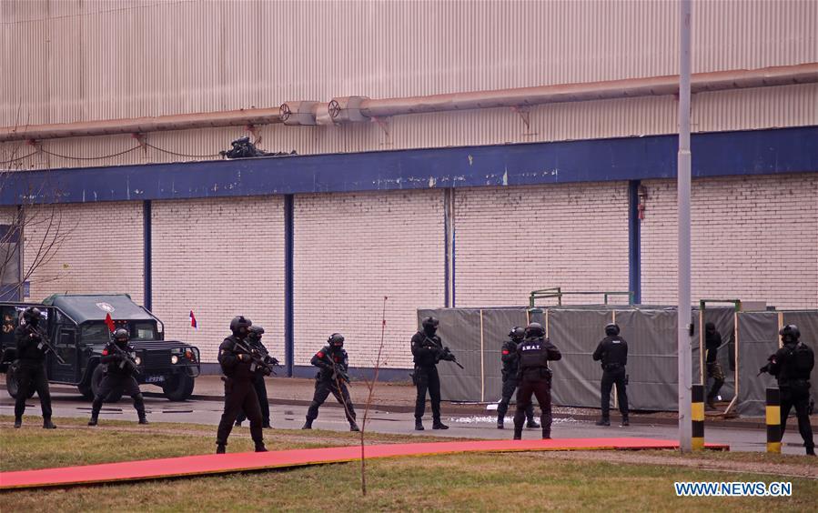 塞尔维亚-SMEDEREVO-中国-警察演习
