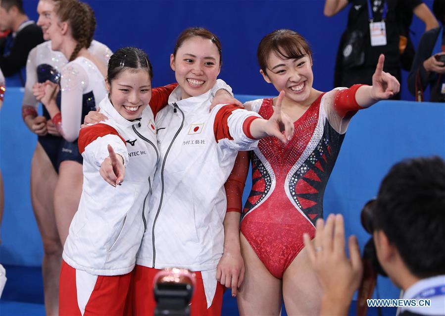 (SP)日本-东京-蹦床-世界冠军-女子蹦床团队决赛