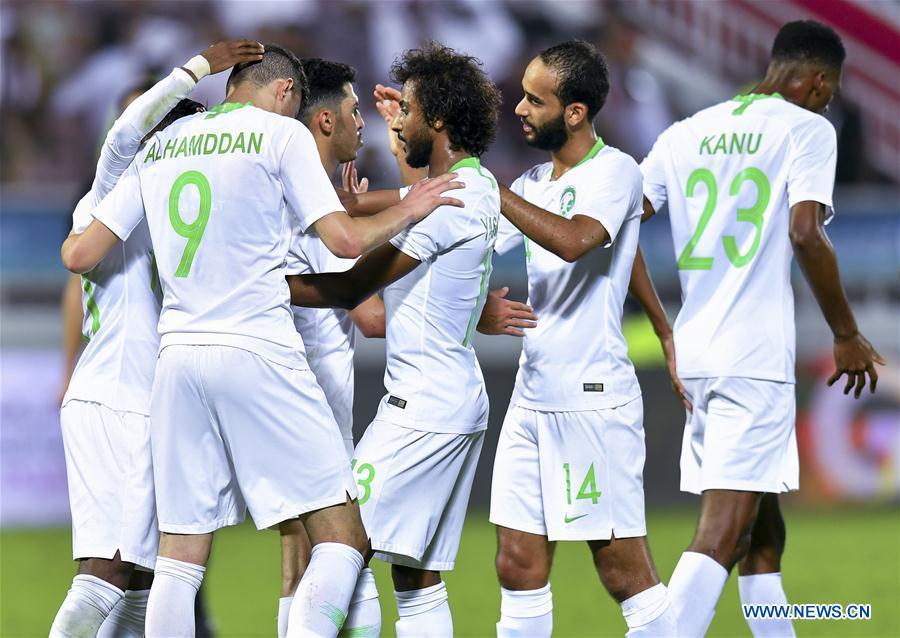(SP)卡塔尔-多哈-足球-阿拉伯人海湾杯-巴林VS沙特阿拉伯
