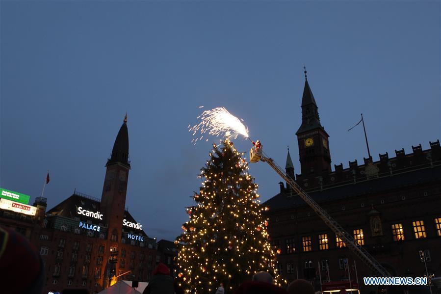 DENMARK-COPENHAGEN-CHRISTMAS TREE-LIGHTING