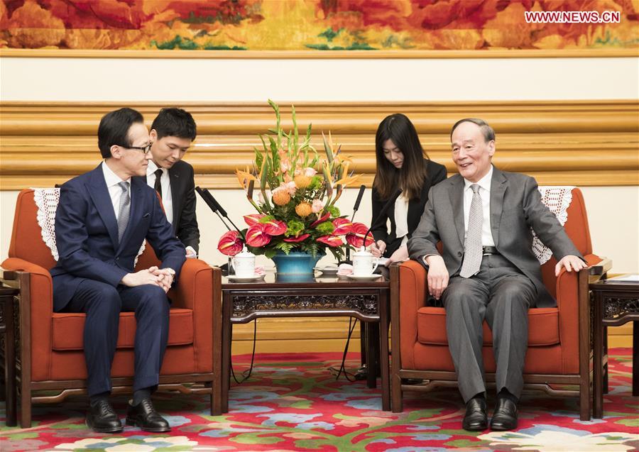 CHINA-BEIJING-WANG QISHAN-JAPAN-NATIONAL SECURITY COUNCIL-SHIGERU KITAMURA-MEETING (CN)