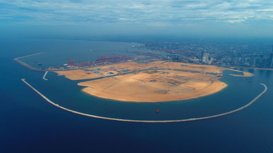 Colombo Port City workers take pride in creating new land for Sri Lanka - Xinhua   English.news.cn