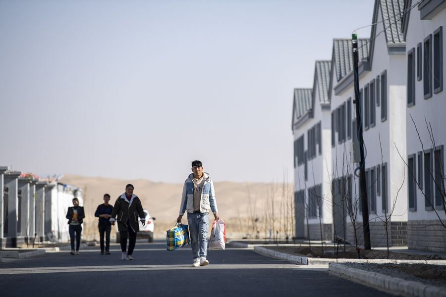 Villagers embrace new life after relocation in Xinjiang - Xinhua | English.news.cn