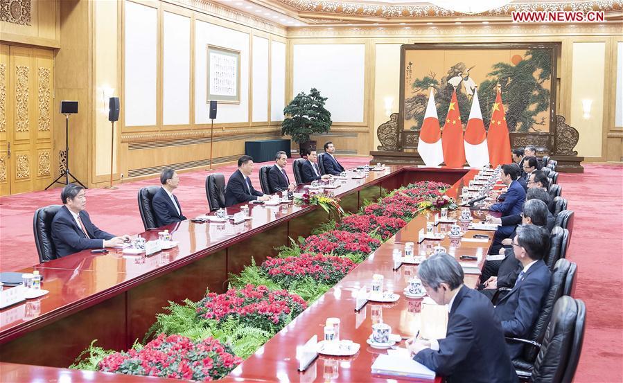 CHINA-BEIJING-XI JINPING-JAPANESE PM-MEETING (CN)