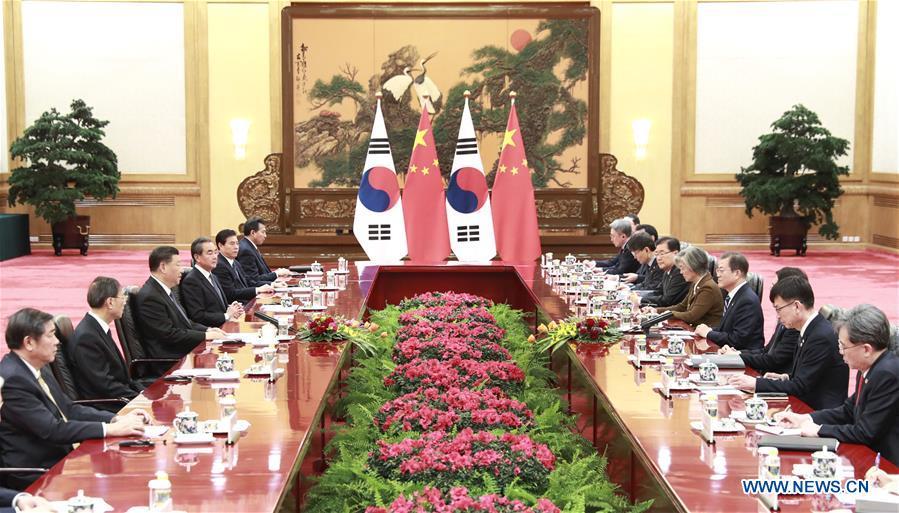 CHINA-BEIJING-XI JINPING-ROK PRESIDENT-MEETING (CN)