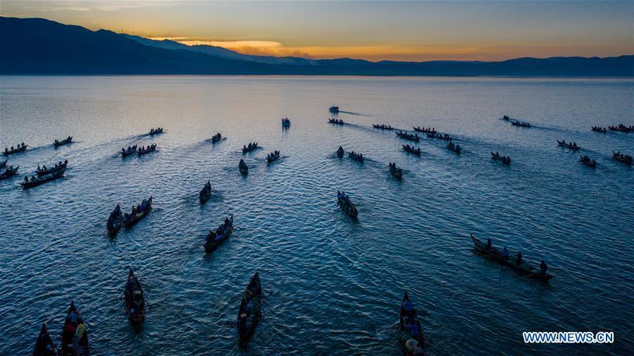 CHINA-YUNNAN-XINGYUN LAKE-FISH SEASON-START (CN)