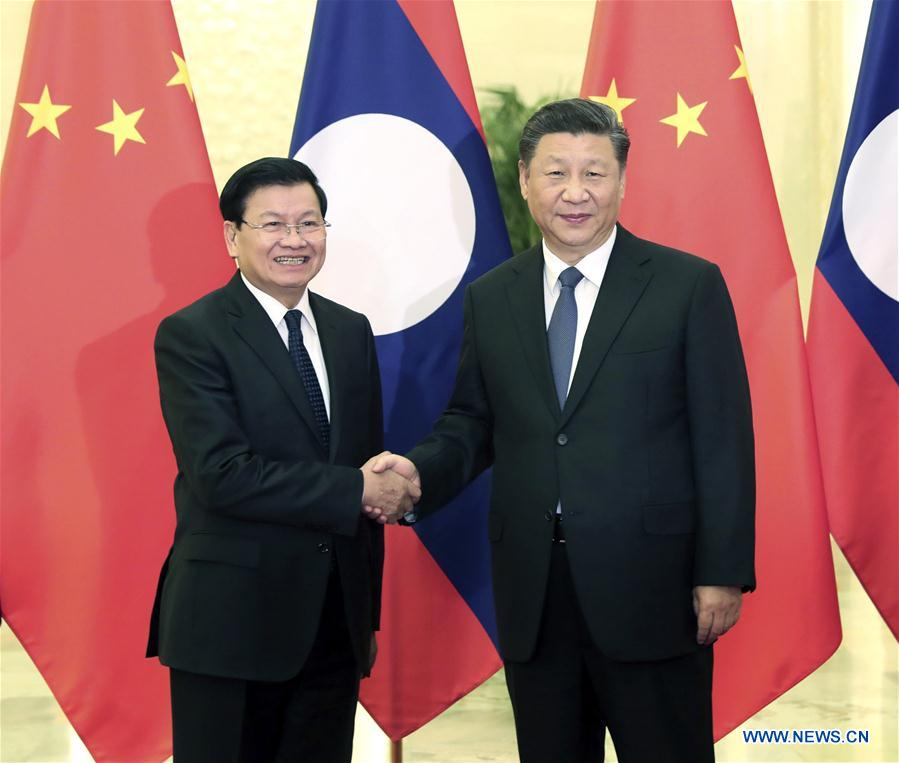 CHINA-BEIJING-XI JINPING-LAO PM-MEETING (CN)