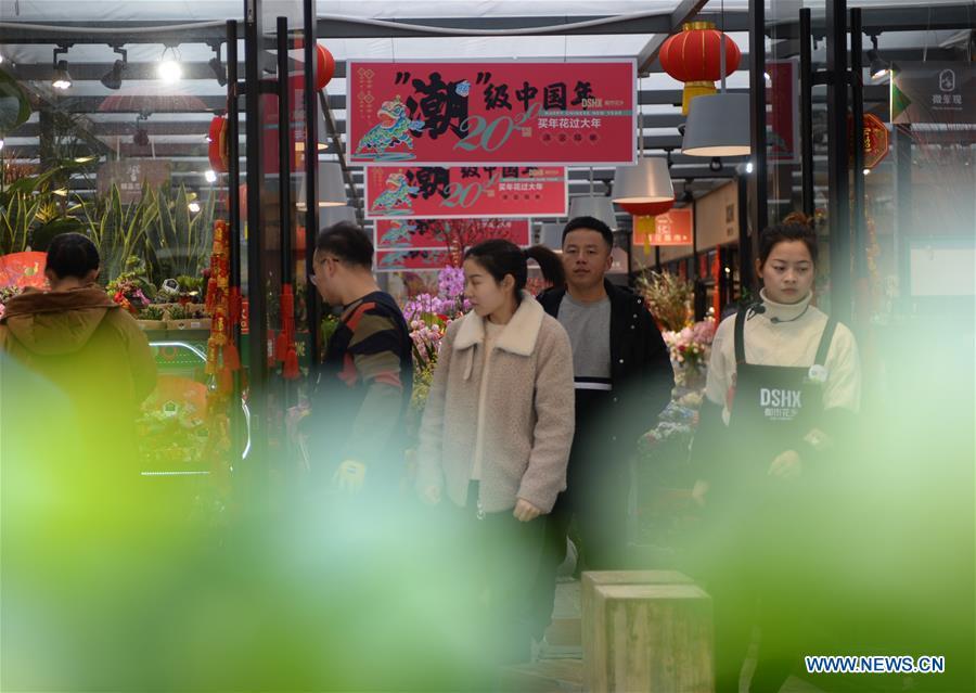 CHINA-HUNAN-CHINESE NEW YEAR-FLOWER ECONOMY (CN)
