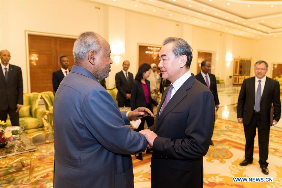 DJIBOUTI-PRESIDENT-CHINA-WANG YI-MEETING