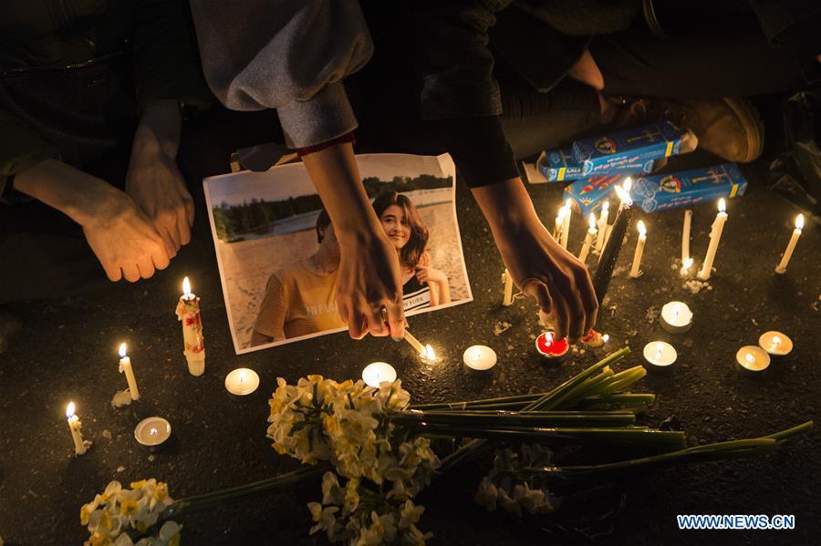 伊朗-德黑兰-空中悼念仪式