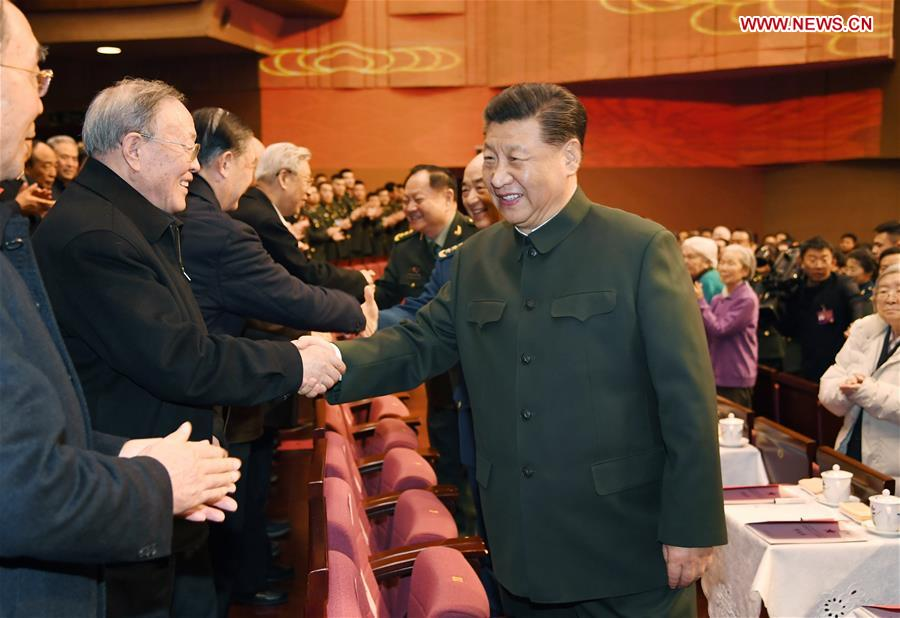 CHINA-BEIJING-XI JINPING-GALA-MILITARY VETERANS AND RETIRED OFFICERS-SPRING FESTIVAL GREETINGS (CN)