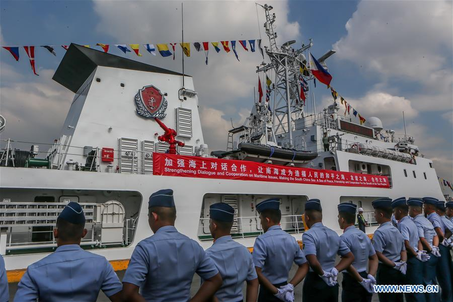 PHILIPPINES-MANILA-CCG-VESSEL-ARRIVAL CEREMONY-OFFICIAL VISIT