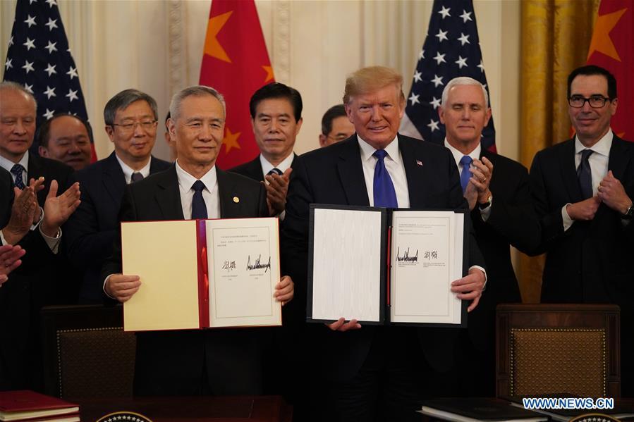 U.S.-WASHINGTON D.C.-CHINA-U.S. PHASE-ONE TRADE DEAL-SIGNING