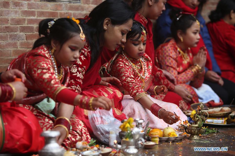 尼泊尔-加德满都文化-贝尔·比巴哈庆典