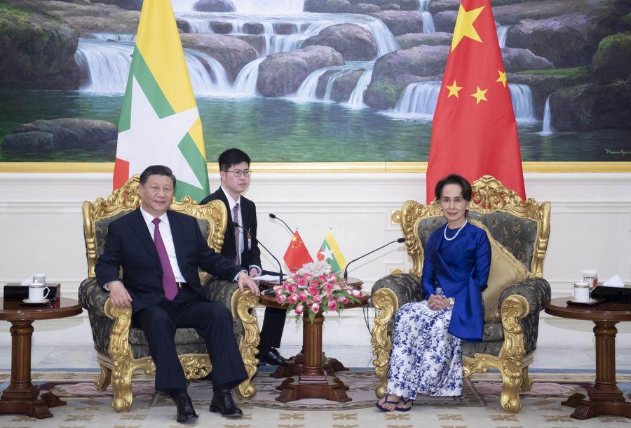 Xi meets Myanmar State Counsellor Aung San Suu Kyi - Xinhua | English.news.cn