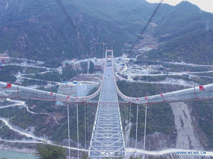 CHINA-YUNNAN-JINSHA RIVER BRIDGE-CONSTRUCTION (CN)