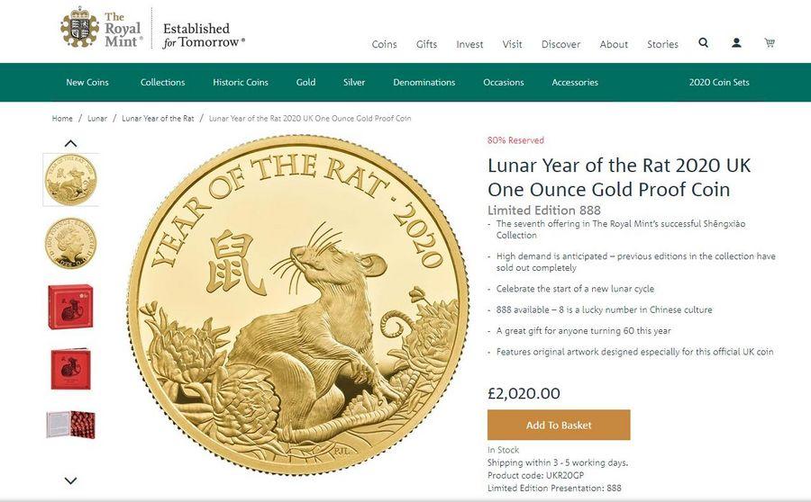 Britain's Royal Mint celebrates Chinese