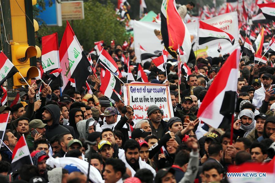 IRAQ-BAGHDAD-PROTEST-U.S. TROOPS PRESENCE