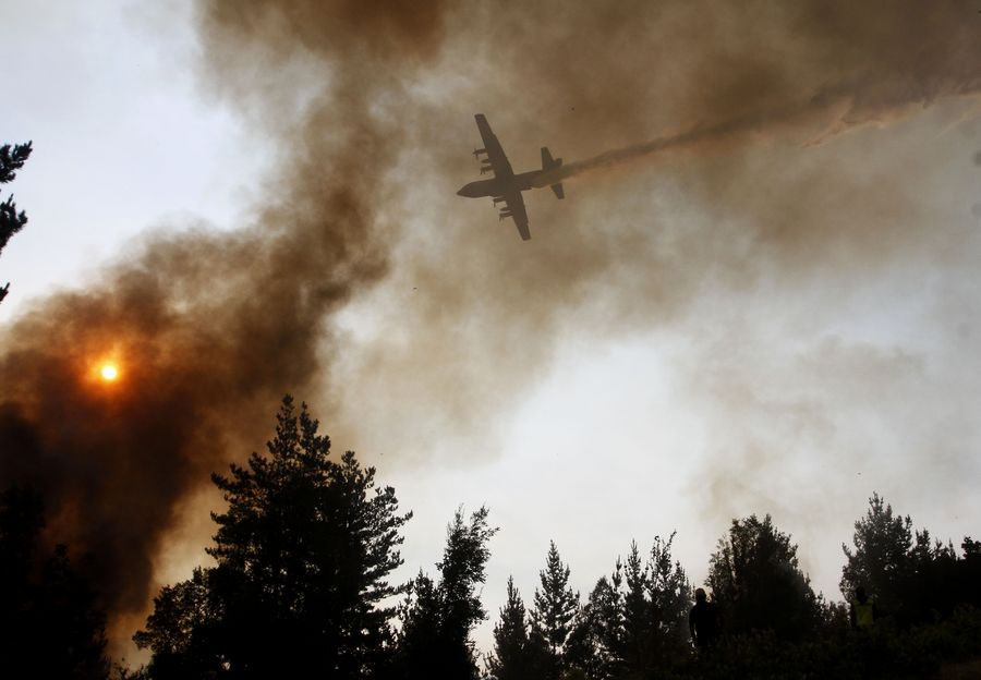 Forest fires raze 4,000 hectares of land in Chile - Xinhua | English.news.cn