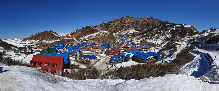 Asia Album: A snowy paradise - Winter scenery of Kuri village in Nepal - Xinhua   English.news.cn
