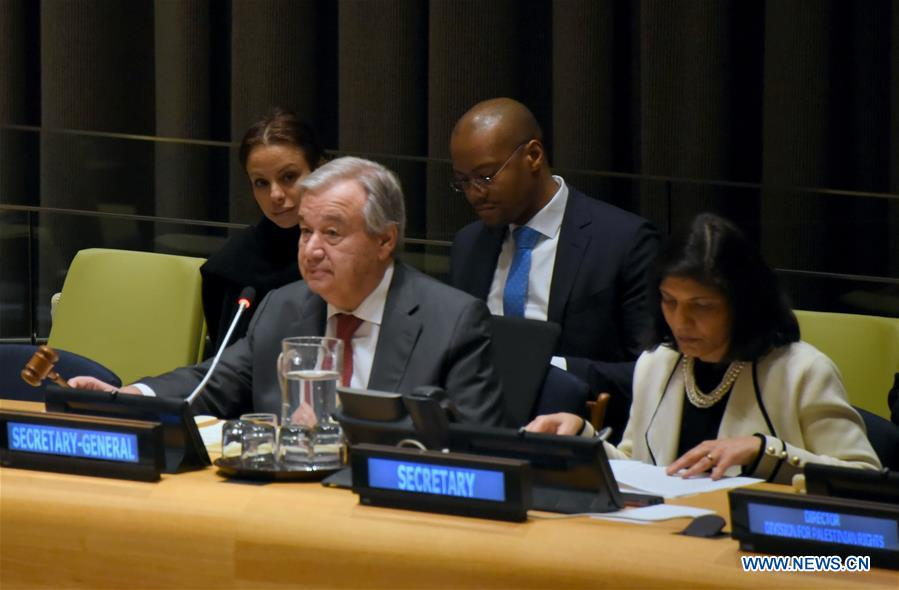 UN-GUTERRES-TWO-STATE SOLUTION-ISRAELI-PALESTINIAN CONFLICT