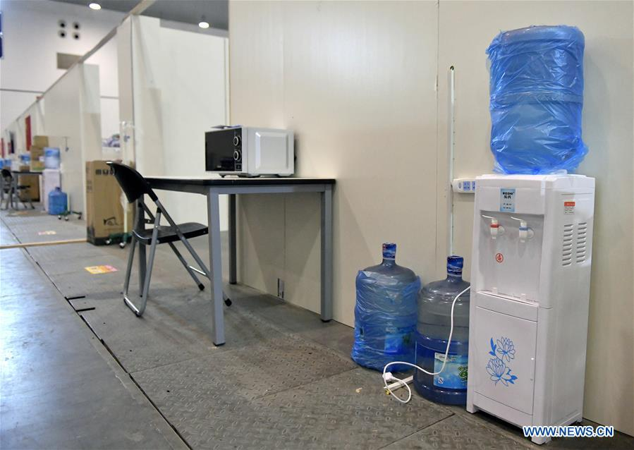 Makeshift Hospital Ready to Receive Patients Infected with Novel Coronavirus in Wuhan