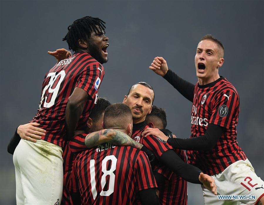 Serie A Football Match Fc Inter Vs Ac Milan Xinhua English News Cn