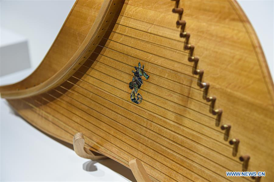 Chinese Music Instruments Displayed in Moscow, Russia