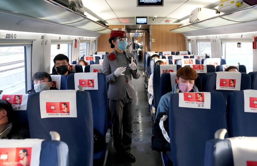Across China: Charter high-speed trains secure safe return for migrant workers amid epidemic - Xinhua | English.news.cn