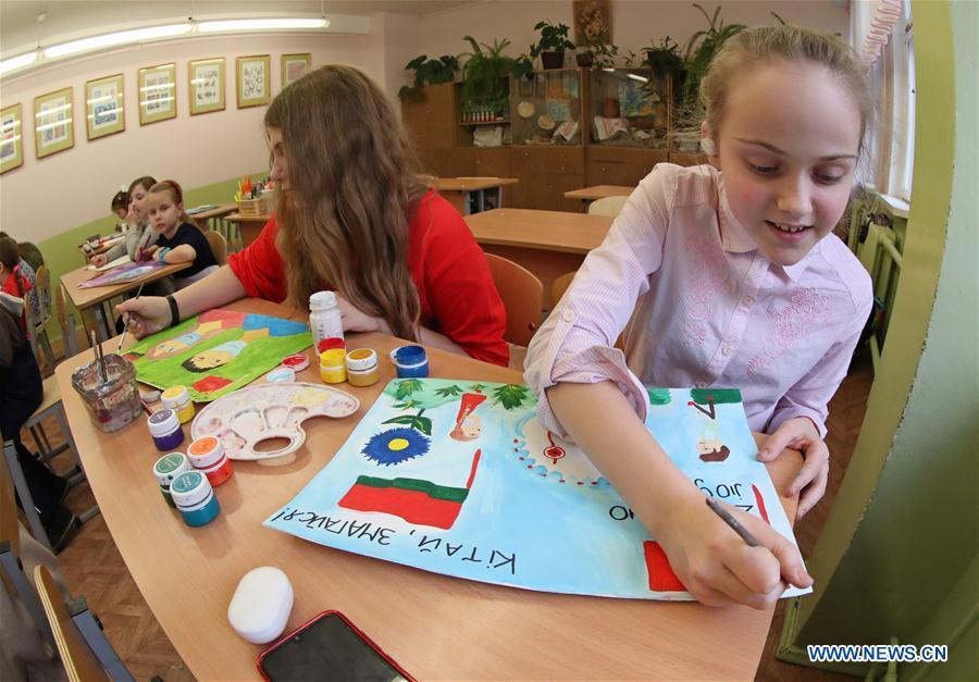 白俄罗斯-明斯克-儿童-中国