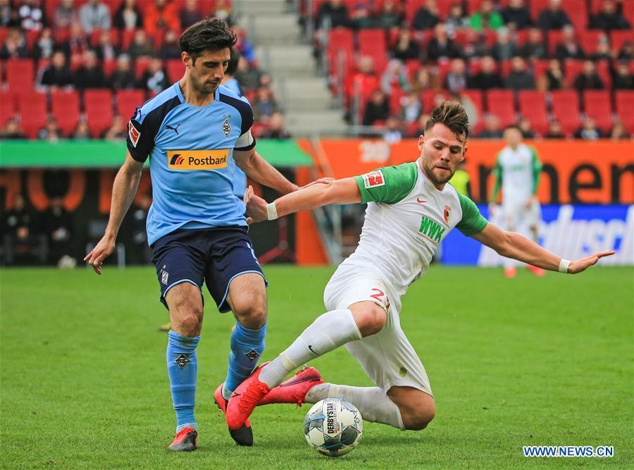 (SP)德国-奥格斯堡-足球-邦德斯利加-奥格斯堡VS摩纳哥拉德巴赫