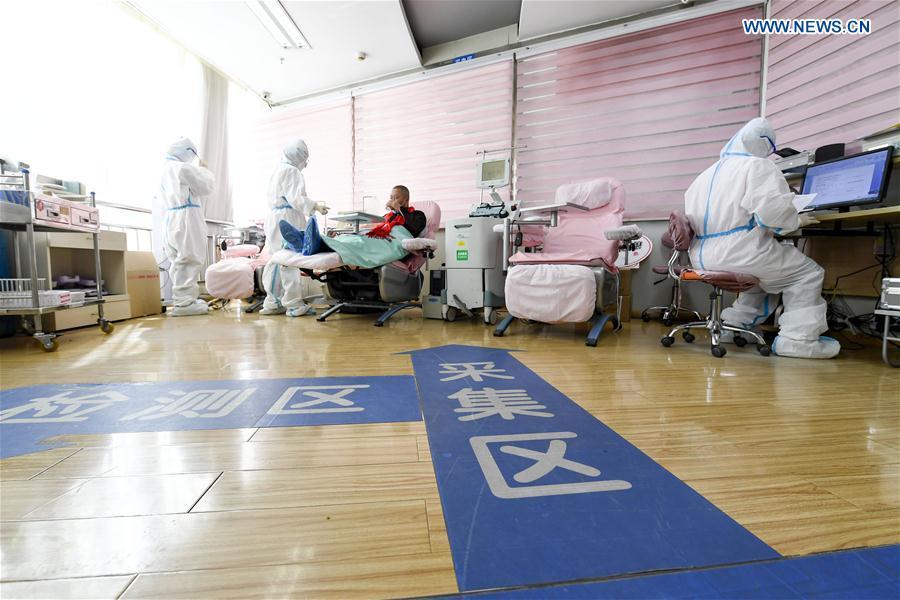 CHINA-NINGXIA-CURED PATIENT-PLASMA DONATION (CN)