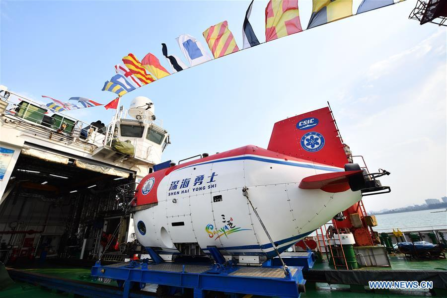 (SCI-TECH)CHINA-HAINAN-TANSUO-1-EXPEDITION (CN)