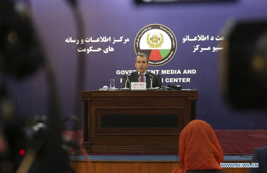 阿富汗-喀布尔新闻发布会-总统发言人-塔利班制度