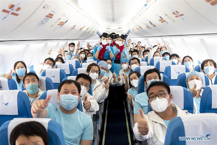 CHINA-WUHAN-COVID-19-TIANJIN-MEDICS-DEPARTURE (CN)