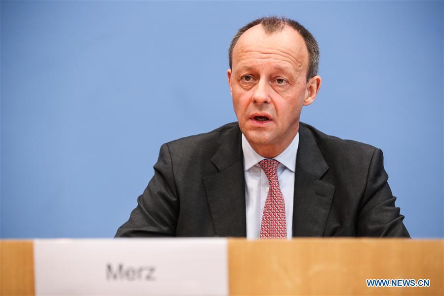 德国-柏林-科大-主席候选人-默兹-COVID-19-测试阳性