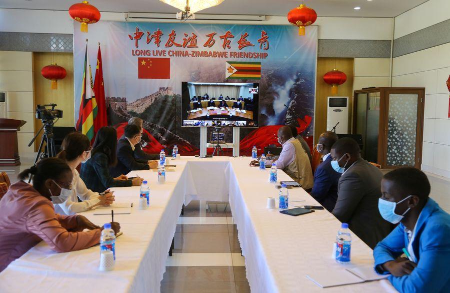 Zimbabwe S Mnangagwa Thanks China For Support In Fight Against Covid 19 Xinhua English News Cn