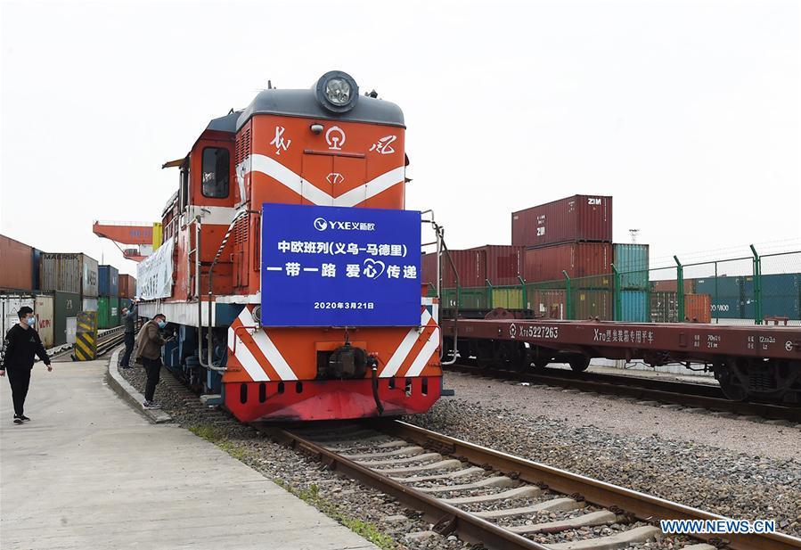#中国-浙江-西班牙货运火车-COVID-19-AID(CN)