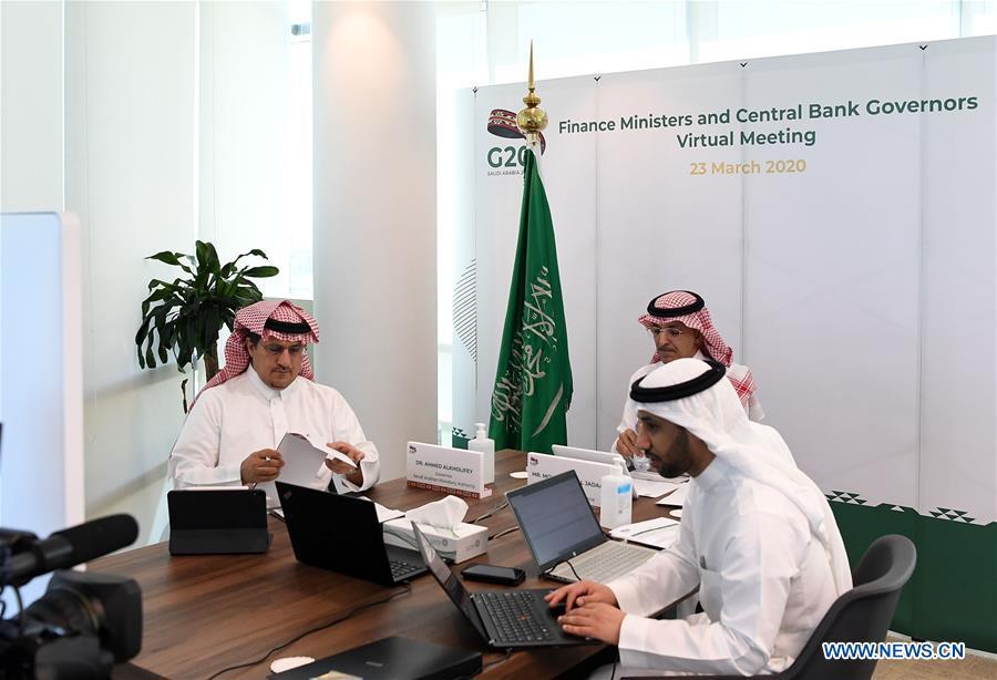 沙特阿拉伯-RIYADH-G20电视会议